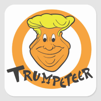 Donald Trumpeteer Caricature Square Sticker