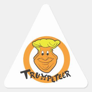 Donald Trumpeteer Caricature Triangle Sticker
