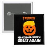 Donald Trumpkin Make Halloween Great Again 15 Cm Square Badge
