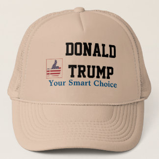 Donald Trump's trucker hat with thumb-up sign