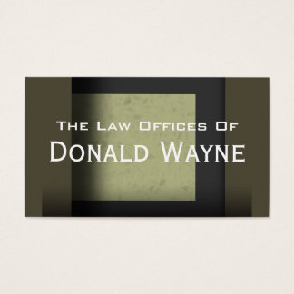 """""""Donald Wayne"""" Business Card"""
