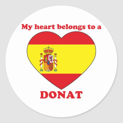 Donat Round Stickers