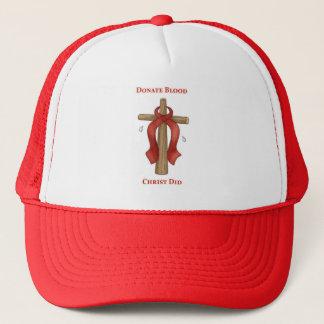 Donate Blood Christ Did Trucker Hat