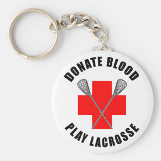 Donate Blood Play Lacrosse Gift Key Chains
