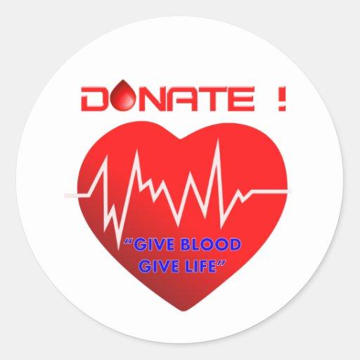 Donate Round Sticker