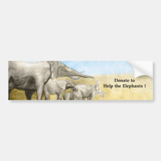 Donate to help the elephants sticker