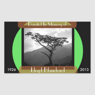 Donated in Memory of - Rectangle Rectangle Stickers