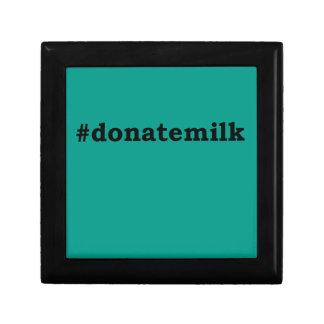#donatemilk gift box