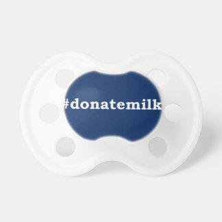 #donatemilk with white writing dummy