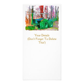DONE PLOWING PHOTO GREETING CARD