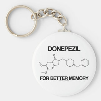 Donepezil For Better Memory (Chemical Molecule) Keychains