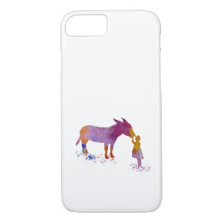 Donkey and child iPhone 8/7 case
