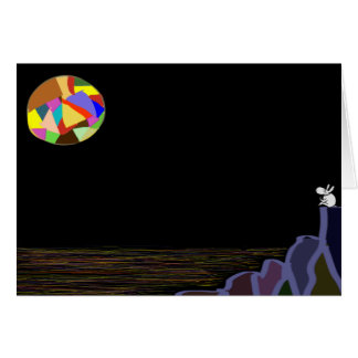 donkey and colorful moon card