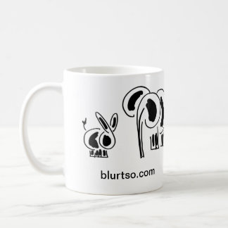 donkey and elephant friends coffee mug