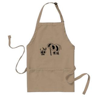 donkey and elephant friends standard apron