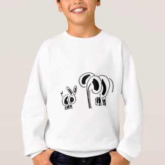 donkey and elephant friends sweatshirt