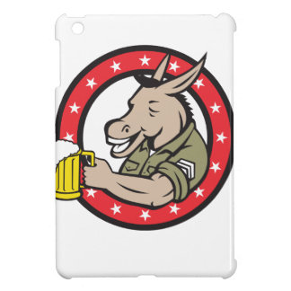 Donkey Beer Drinker Circle Retro iPad Mini Covers