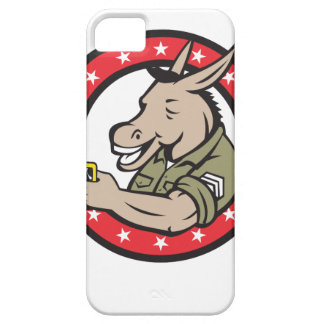Donkey Beer Drinker Circle Retro iPhone 5 Case