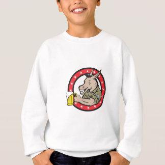 Donkey Beer Drinker Circle Retro Sweatshirt