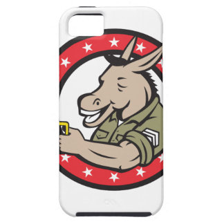 Donkey Beer Drinker Circle Retro Tough iPhone 5 Case