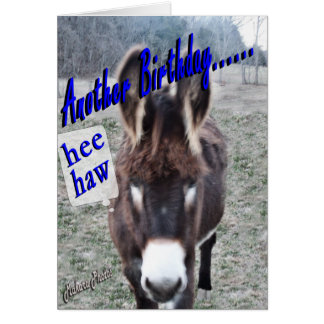 Donkey Birthday-customize it Card