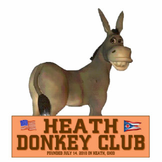 Donkey Club Standing Photo Sculpture
