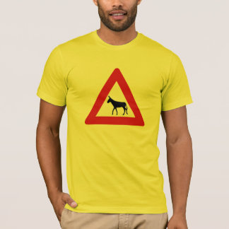 Donkey Crossing (1), Sign, Netherlands Antilles T-Shirt