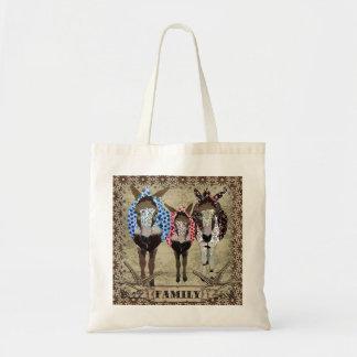 Donkey Family  Bag