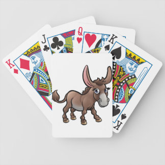 Donkey Farm Animals Cartoon Character Bicycle Playing Cards
