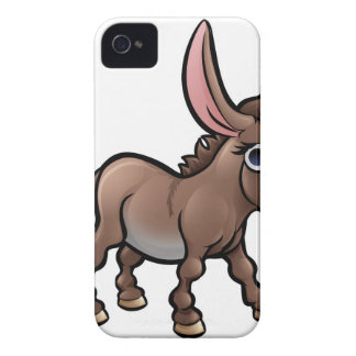 Donkey Farm Animals Cartoon Character Case-Mate iPhone 4 Cases