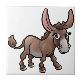 Donkey Farm Animals Cartoon Character Tile