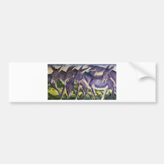 Donkey Frieze by Franz Marc Bumper Sticker
