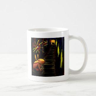 donkey in alley coffee mug