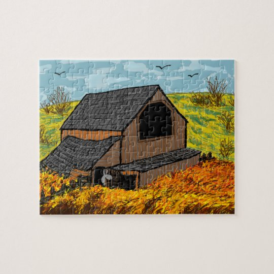 donkey in barn jigsaw puzzle