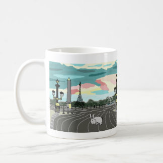 donkey in Paris Coffee Mug
