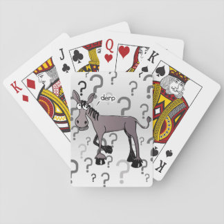 Donkey interrogation derp playing cards