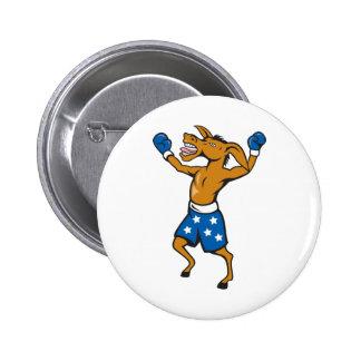 Donkey Jackass Boxer Victory Democrat Buttons