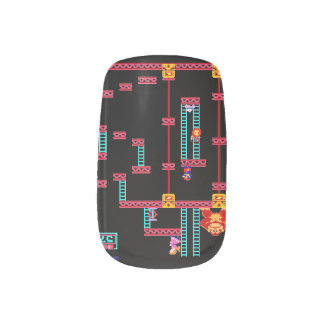 Donkey Kong Manicure Nails Nail Stickers