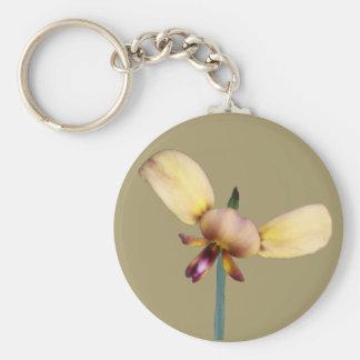 Donkey Orchid Key Ring