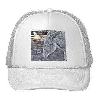 donkey painting cap