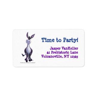 Donkey Party Center Label