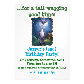 Donkey Party Center Magnetic Card