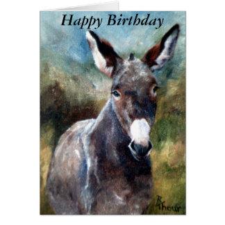 Donkey Portrait Birthday Card