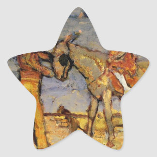 Donkey Rider by Maurice Prendergast Star Sticker
