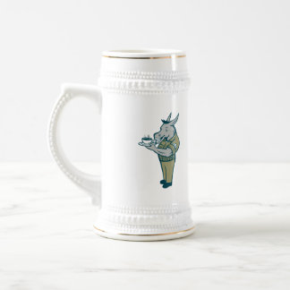 Donkey Sergeant Army Standing Drinking Coffee Cart Beer Stein