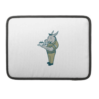 Donkey Sergeant Army Standing Drinking Coffee Cart Sleeve For MacBooks