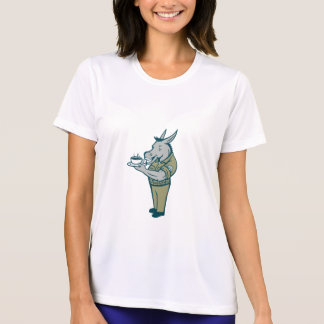 Donkey Sergeant Army Standing Drinking Coffee Cart T-Shirt