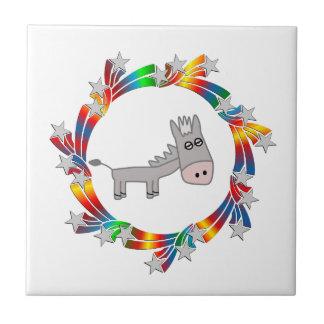Donkey Stars Ceramic Tile