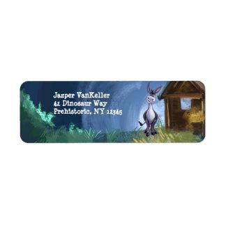 Donkey Stationery Return Address Label