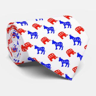 Donkeys and Elephants Tie